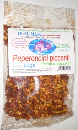 Dried red pepper mix